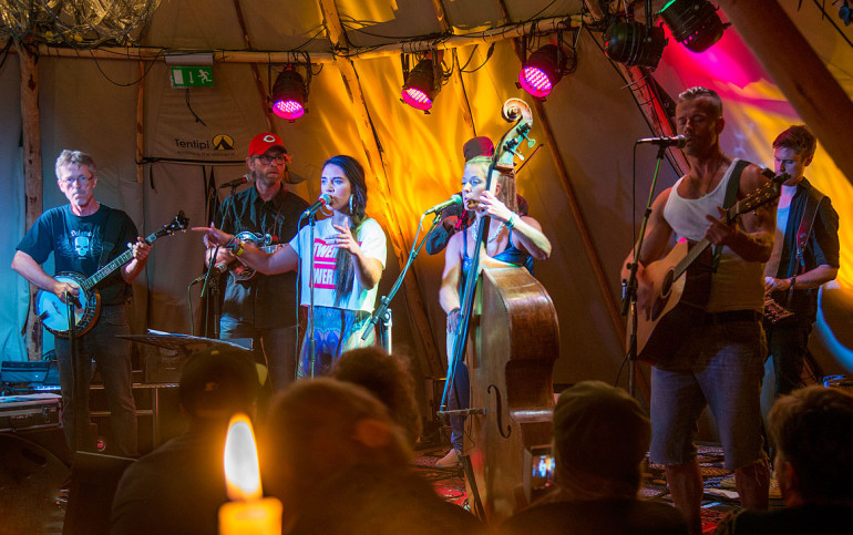 Maxida Märak & Downhill Bluegrass Band at Bjurfors Konferens & Hotel