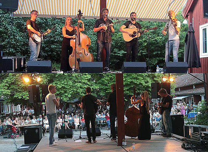 Sätra Brunn barbecue evevning with Downhill Bluegrass Band