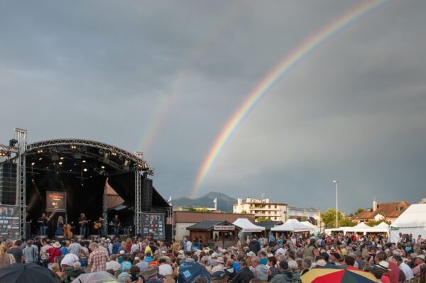 Downhill Bluegrass Band performs at La Roche Bluegrass Festival